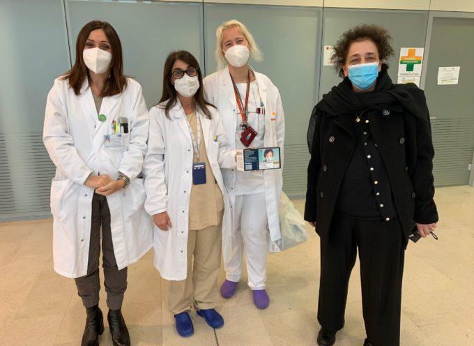 Mascherine chirurgiche donate dall'associazione Alice Benvenuti ONLUS alla Pediatria di Lucca