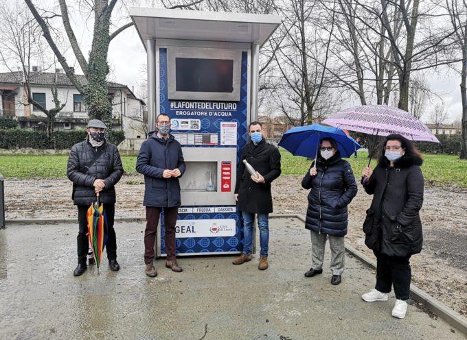 a Pontetetto:aperto il nuovo erogatore di acqua buona da Comune e Geal