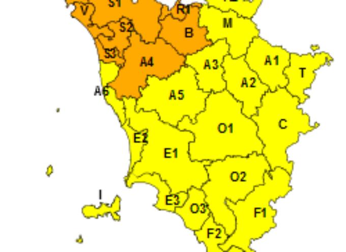 Maltempo, temporali e vento. Codice arancione per rischio idraulico e idrogeologico