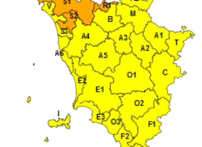 Il 6 gennaio codice arancione per neve sul nord-ovest, codice giallo sul resto della Toscana
