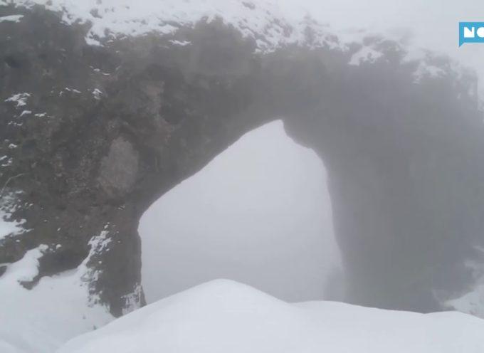 La meraviglia del monte Forato innevato