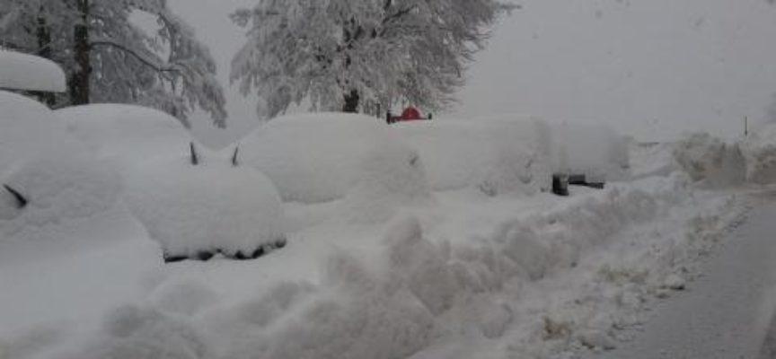 Venti , trenta centimetri di neve hanno messo in ginocchio tutta l'Alta Garfagnana,