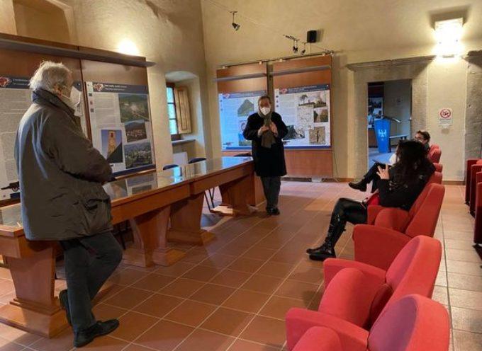 """il primo sopralluogo per l'organizzazione dell'edizione 2021 del festival """"Mont'Alfonso Sotto le Stelle""""."""
