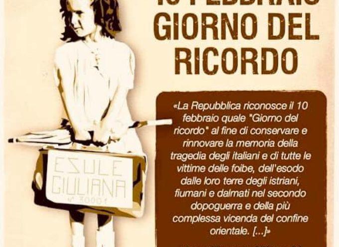 la comunità di Porcari celebrerà il Giorno del ricordo delle vittime delle foibe