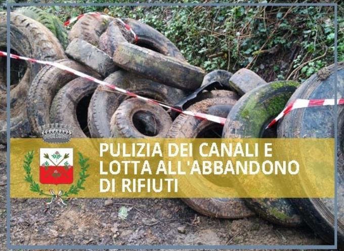 PULIZIA DEI CANALI IN COLLINA E LOTTA ALL'ABBANDONO DI RIFIUTI