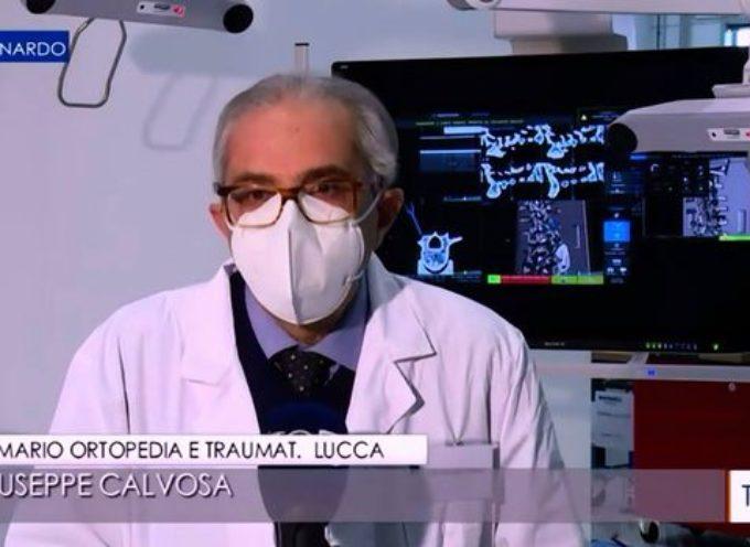 """il primario Giuseppe Calvosa a """"Leonardo"""" su Rai Tre parla di ortopedia robotica e navigazione computerizzata"""