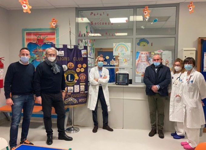 Versilia, 3 monitor multiparametrici donati dal Lions Club Versilia Host al pronto soccorso pediatrico