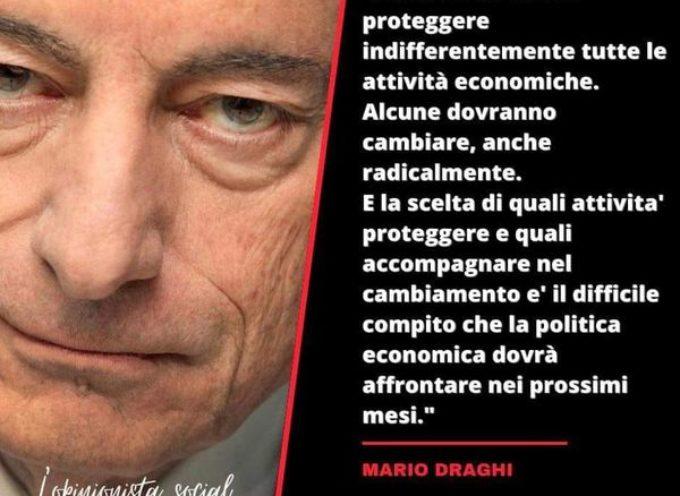 LE PAROLE DI DRAGHI AL SENATO DELLA REPUBBLICA –  CHI DOVRA' VIVERE……………………