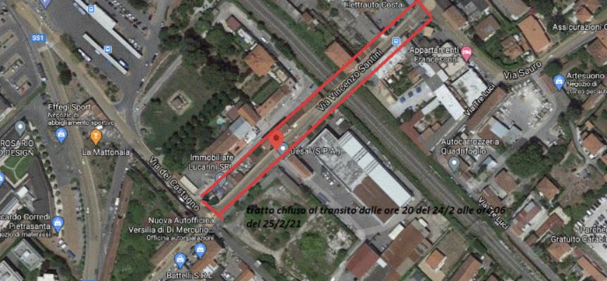Viabilità: asfaltatura tratto via Santini, cantiere in notturna per limitare i disagi