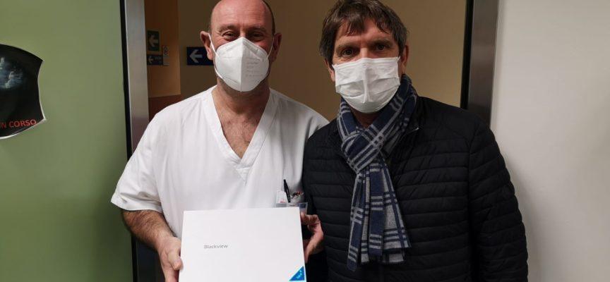 Ospedale San Luca: tablet donato alla Medicina Covid dai figli di una persona deceduta