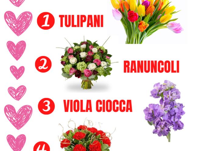 San Valentino: tulipani, ranuncoli e viola ciocca,ecco la classifica dei fiori salva Made in Versilia