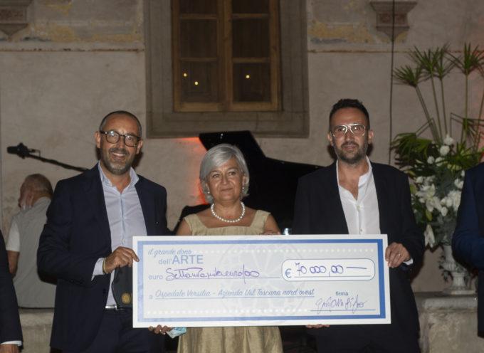 71 mila euro per l'Ospedale Versilia, è il grande dono dell'arte