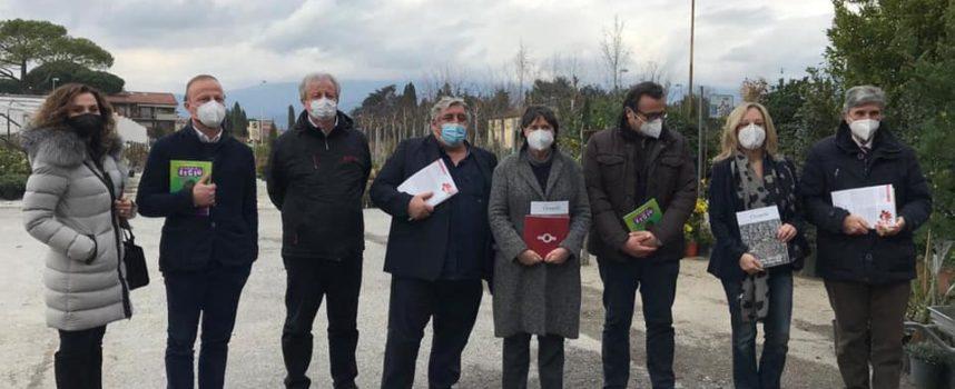 Florovivaismo, la vicepresidente Saccardi in visita nell'area pesciatina-pistoiese