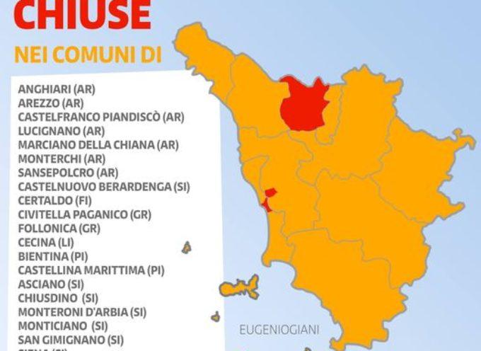La Toscana rimarrà in zona arancione anche la prossima settimana. – SEGUE ELENCO DELLE SCUOLE CHIUSE – IN PRESENZA MA CON DAD