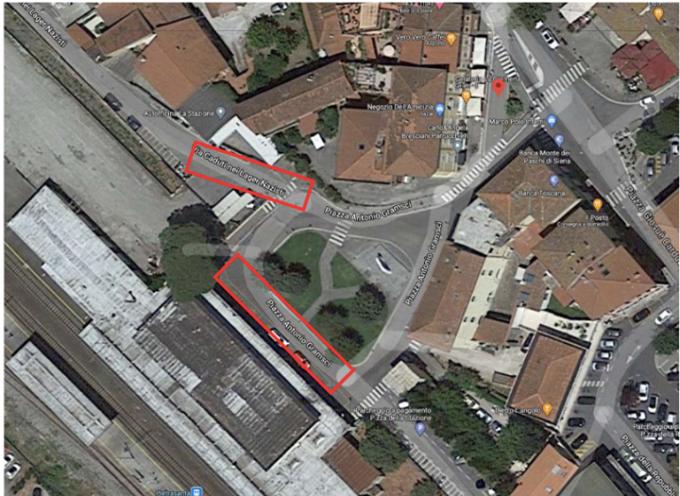 Viabilità: Piazza Antonio Gramsci (piazza Stazione), senso unico alternato per consentire accesso alla stazione