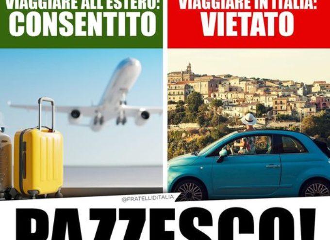A Pasqua l'Italia in zona rossa, ma sono consentiti i viaggi all'estero.