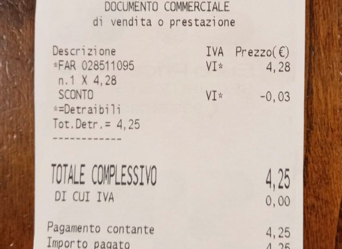 Stalking e femminicidi: il numero antiviolenza 1522 stampato sugli scontrini delle farmacie del Comune di Seravezza. Adesioni anche da parte dei commercianti