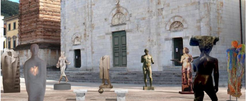 """la scultura sfida il Covid, con """"La Piazza in attesa"""" torna l'arte in Piazza Duomo"""