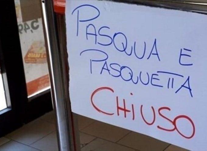 La Regione Toscana  ha disposto la chiusura di tutti gli esercizi commerciali  SIA PER PASQUA SIA PER PASQUETTA