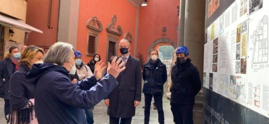 Questa mattina si è recato in visita a Castelnuovo di Garfagnana Eike Schmidt, Direttore delle Gallerie degli Uffizi
