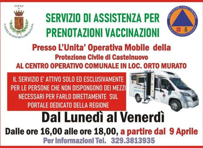 Protezione Civile Castelnuovo di Garfagnana – UN SERVIZIO DI ASSISTENZA PER POTER EFFETTUARE LE PRENOTAZIONI.