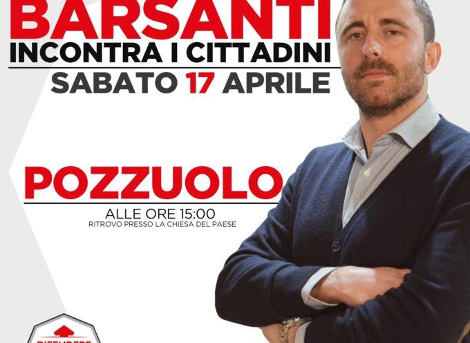 Difendere Lucca, il consigliere Barsanti oggi a Pozzuolo