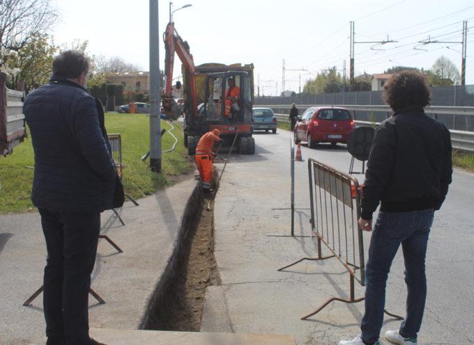 via Montiscendi in sicurezza, aperto il cantiere per dotare tratto stradale di nuove tubazioni e manto stradale