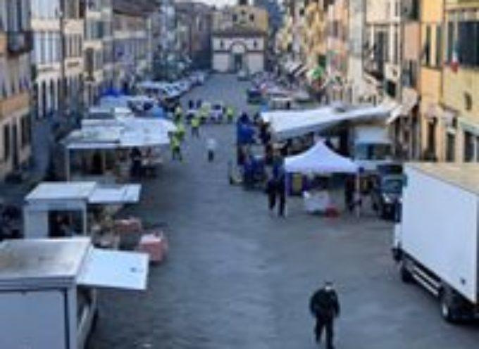 Con la zona arancione tornano i mercati ambulanti a Pescia