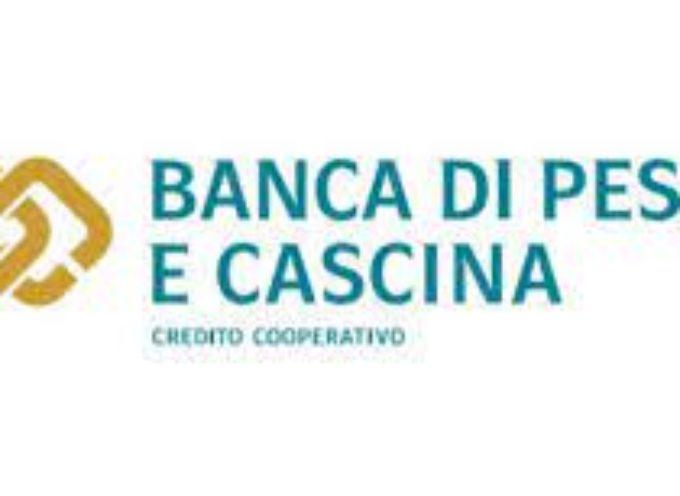 Banca di Pescia e Cascina, 62 milioni di euro a sostegno del territorio