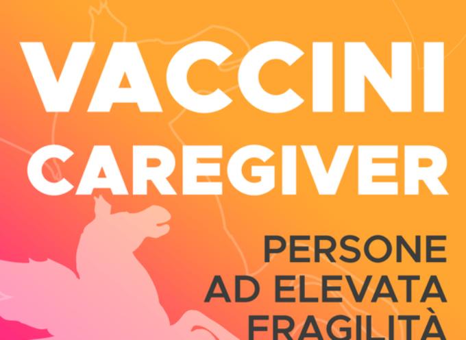 da domani  i familiari dei caregiver riceveranno il codice di 8 cifre per la prenotazione dle vaccino