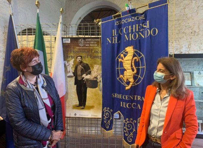 ieri il Questore di Lucca, dott.ssa Alessandra Faranda Cordella, ha visitato la sede dell'associazione Lucchesi nel Mondo