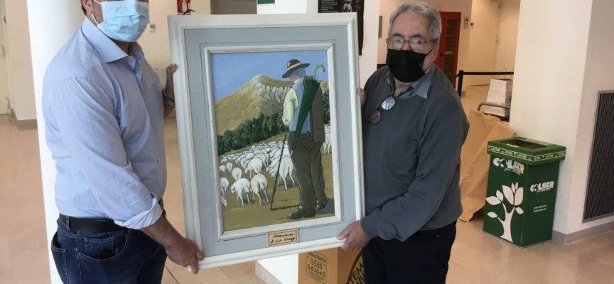 """il """"pittore delle Apuane"""" Cavani dona un quadro agli operatori che lo hanno salvato dal Covid"""
