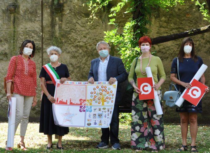 """Lucca Crea: il """"Gioco dei Quattro Cantoni"""" è stato consegnato agli insegnanti che hanno partecipato al percorso ludico-formativo su Rodari"""
