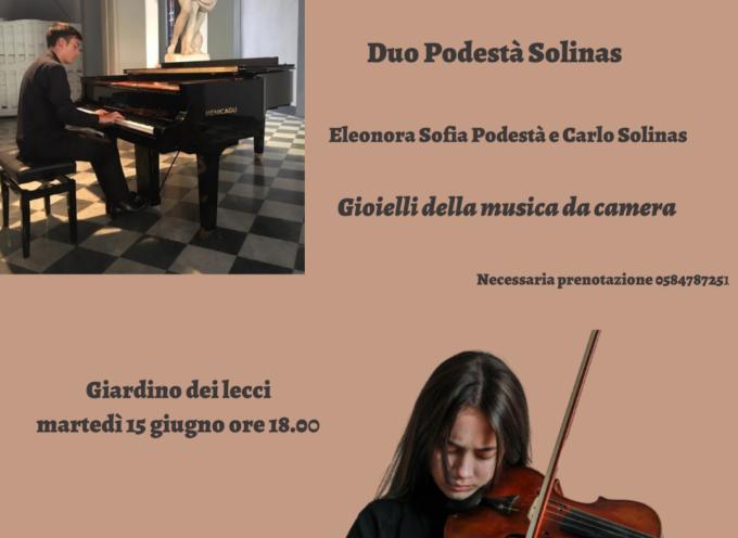 VILLA BERTELLI – Il Duo Podestà- Solinas nel concerto Gioielli della musica da camera per violino e pianoforte