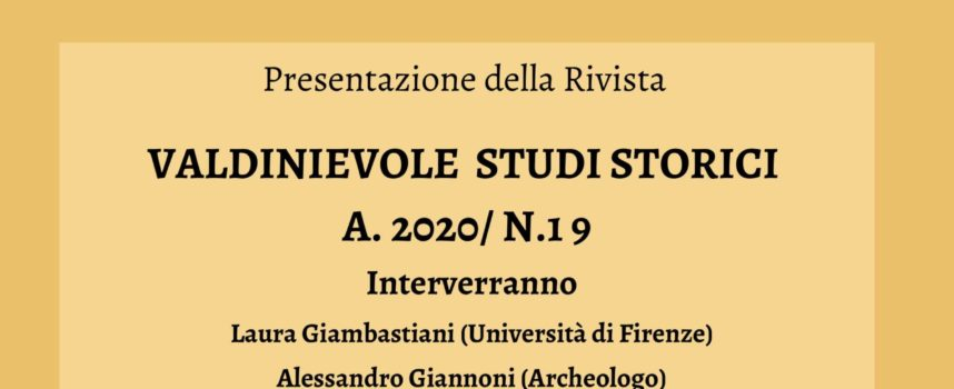 Borgo a Buggiano si presenta la Rivista Valdinievole Studi Storici.