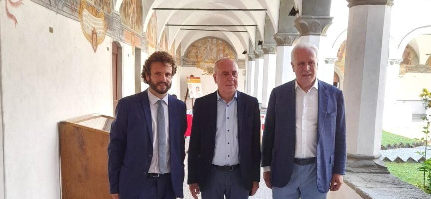 EUGENIO GIANI IN VISITA AL CONVENTO DI SAN FRANCESCO AL BORGO A MOZZANO