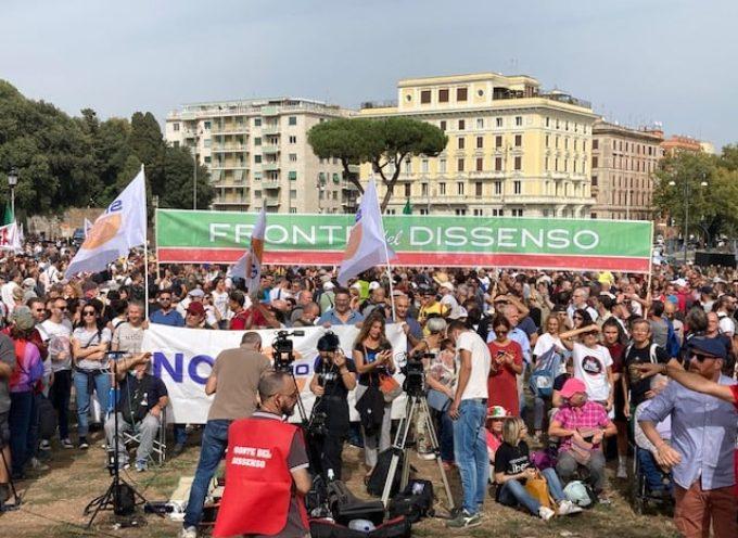 Dalla Valle del Serchio a Roma contro il green pass: manifestiamo in centomila, ma per i media non esistiamo!