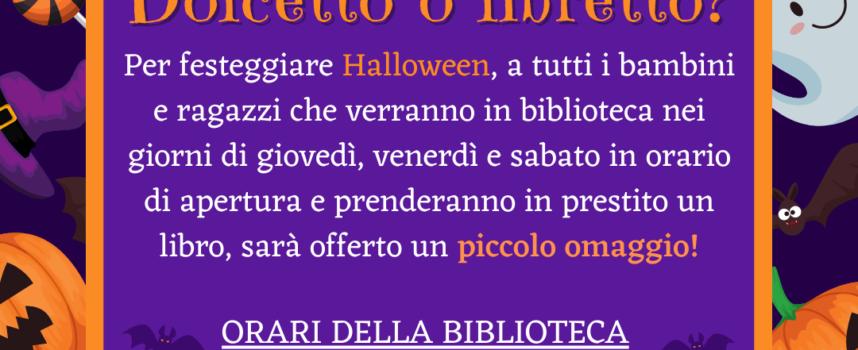 Assessorato alla Cultura del Comune di Seravezza – Halloween tra…dolcetto o libretto