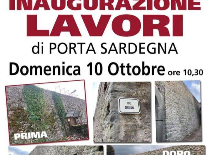a Castiglione di Garfagnana – Inaugurazione dei lavori di Porta Sardegna