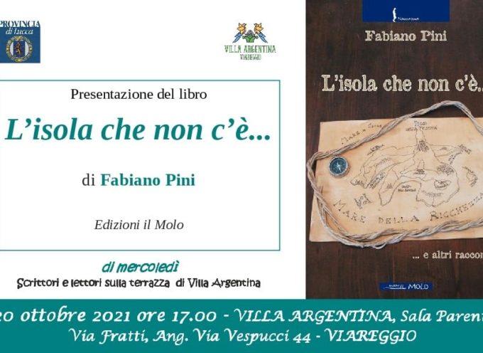 VILLA ARGENTINA – Per 'Di mercoledì' il 20 ottobre si presenta la raccolta di racconti di Fabiano Pini
