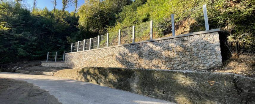 Gallicano – Finita la prima parte di lavori di messa in sicurezza di questo versante su via San Leonardo da Porto Maurizio