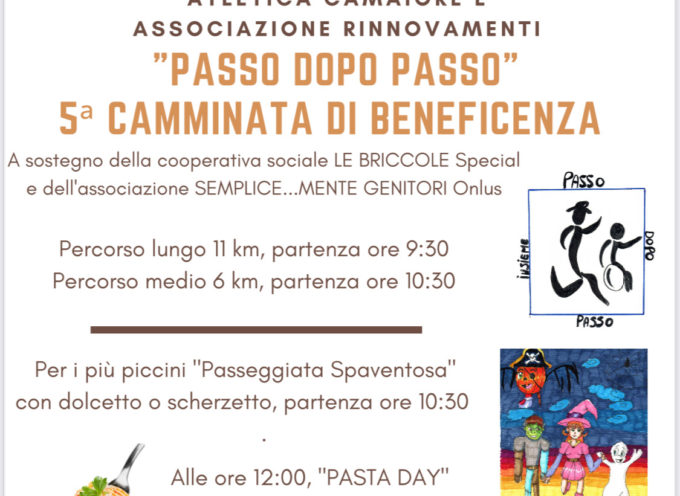 """Camaiore – 31 Ottobre,"""" Passo dopo Passo"""" 5^ Camminata di Beneficenza per le Briccole Special"""