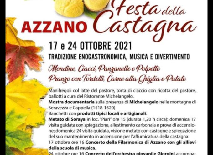 17 e 24 ottobre, tutti ad Azzano per la tradizionale Festa della Castagna