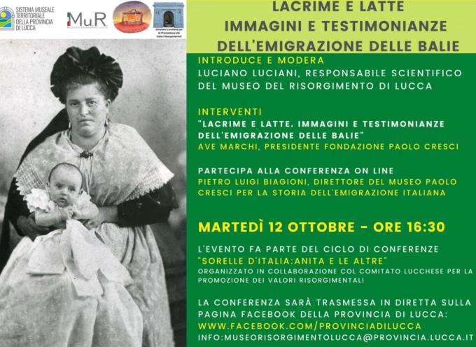 la conferenza online sulla storia delle balie nel periodo dell'emigrazione di fine Ottocento – inizio Novecento