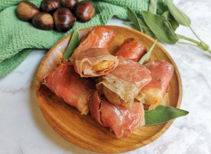 Bocconcini di castagne e speck