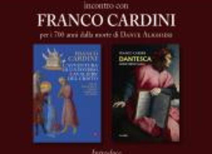 """in San Romano un colloquio con lo storico Cardini sui libri """"L'avventura di un povero cavaliere del Cristo"""" e """"Dantesca"""""""