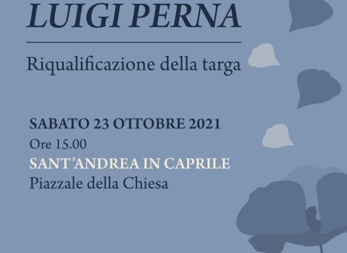 Iniziativa in ricordo di Luigi Perna a S.Andrea in Caprile
