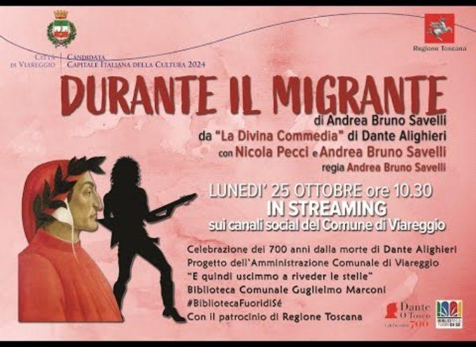 Successo per lo spettacolo Durante il Migrante, presentato questa mattina alle 10,30 alle scuole di Viareggio.