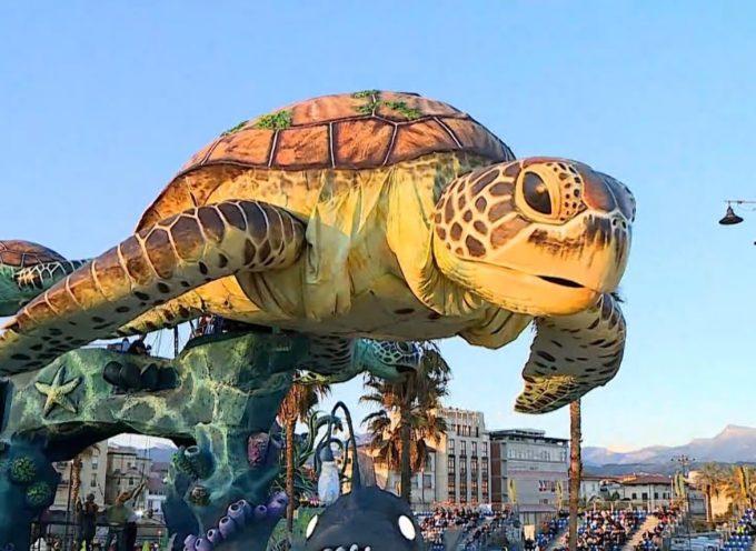 La tartaruga di Luca Bertozzi si aggiudica il primo premio del Carnevale Universale