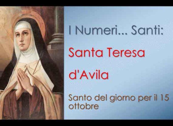 Il Santo del giorno, 15 Ottobre: S. Teresa d'Avila